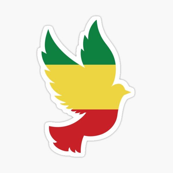 Peace Dove Ethiopian Flag Sticker