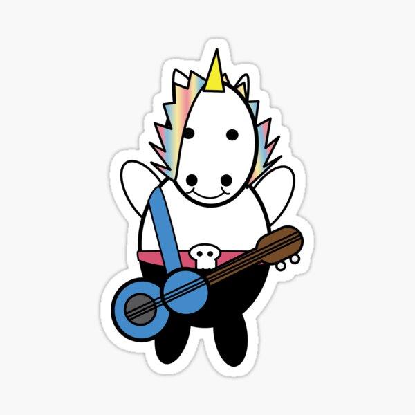 Unicorn Kawaii Punk Bassist Sticker