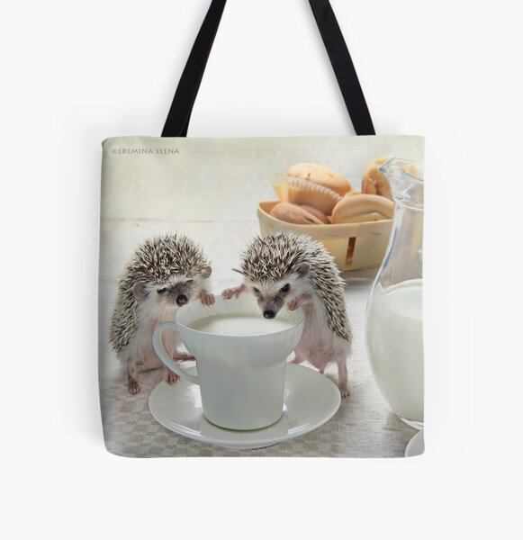 Good morning with hedgehogs All Over Print Tote Bag