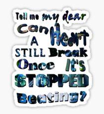 Tell me corpse bride Sticker