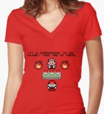 Zelda Pokemon Women's Fitted V-Neck T-Shirt