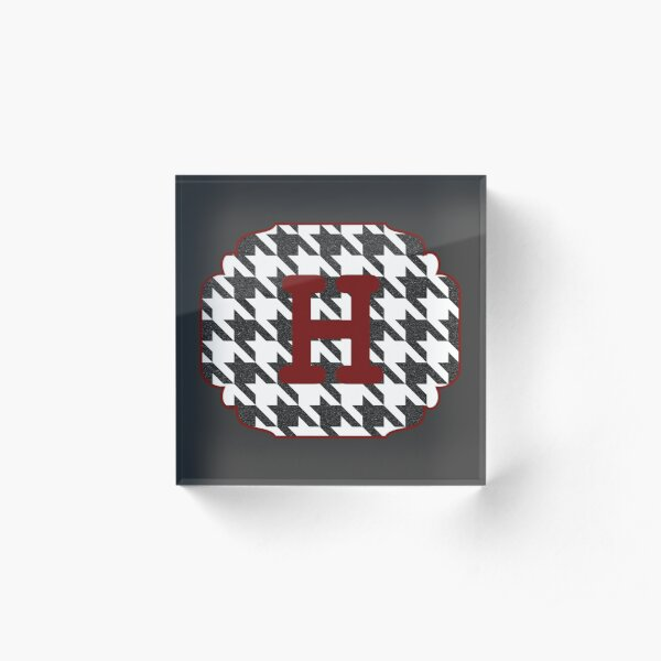 Houndstooth initial H Acrylic Block