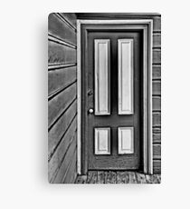 The Old Gray and White Door Canvas Print