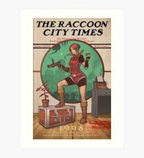 The Raccoon City Times 1998 Art Print