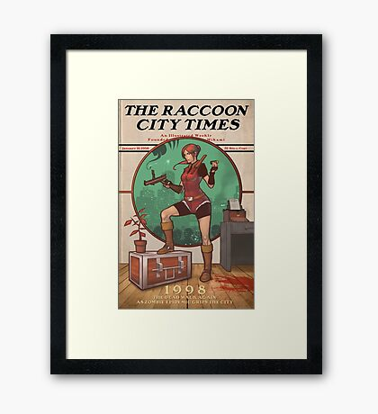 The Raccoon City Times 1998 Framed Print