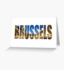 Brussels. Greeting Card
