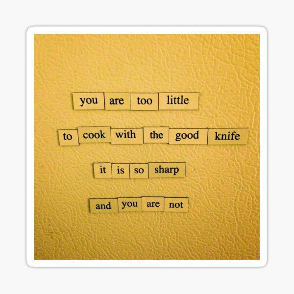 The Good Knife Sticker