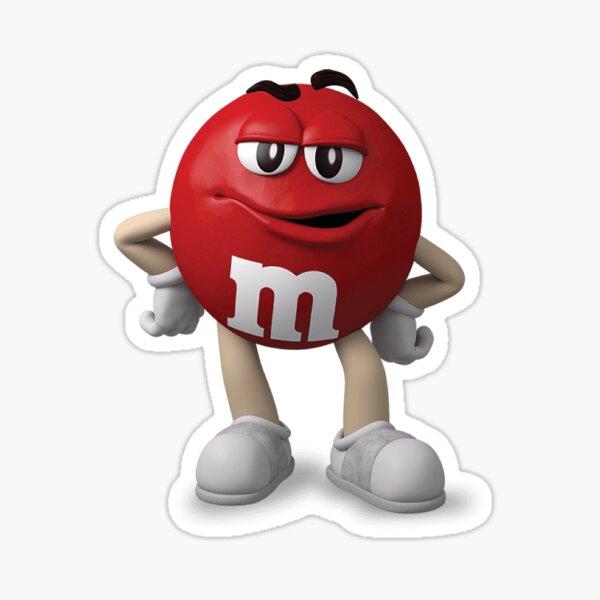 Red M&M Sticker