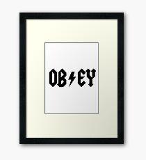 OBEY - AC DC PARODY Framed Print