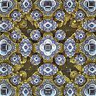 'Cobalt and Gold Mandala' by Scott Bricker