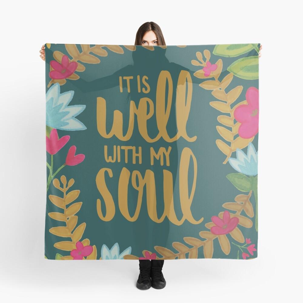 Es ist gut mit meiner Seele, Floral Tuch