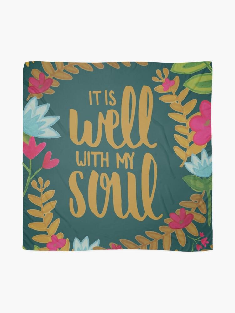 Alternative Ansicht von Es ist gut mit meiner Seele, Floral Tuch