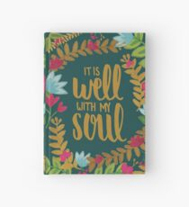 It Is Well With My Soul, Floral Hardcover Journal