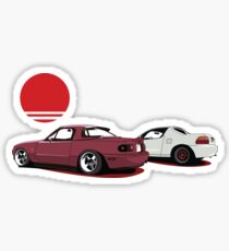 JDM Sunset Sticker