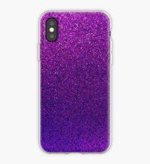 Purple Glitter Paper iPhone Case