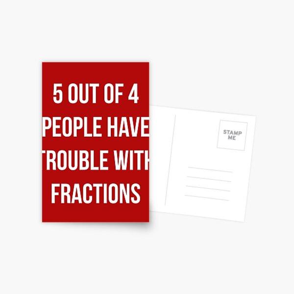 Camiseta divertida de las matemáticas de las fracciones Postal