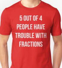 Camiseta ajustada Funny Fractions Math T Shirt