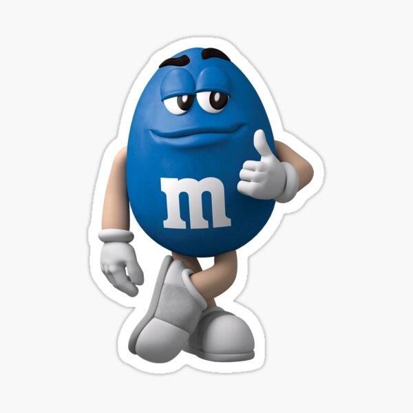 Blue M&M Sticker