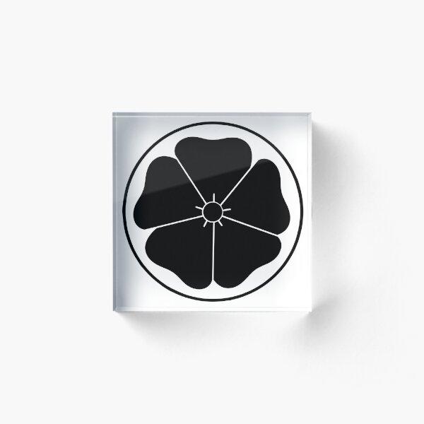 Black Cherry Blossom Acrylic Block
