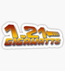1.21 GIGAWATTS ? Sticker