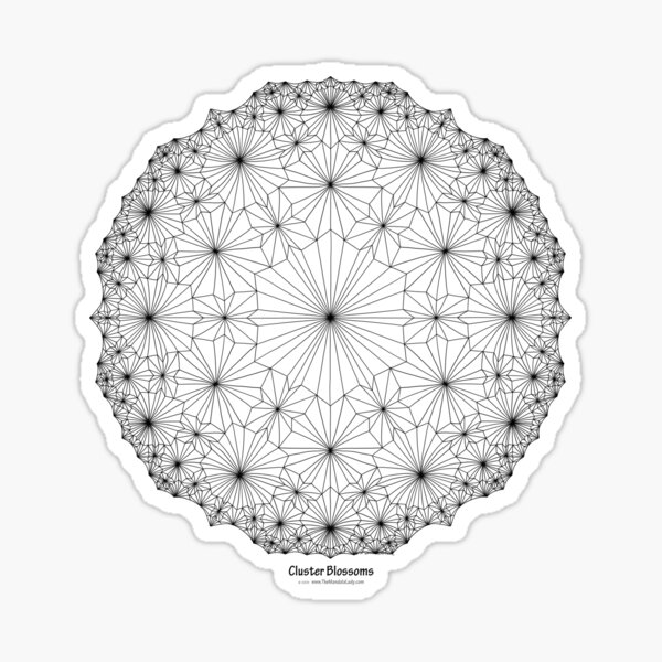 Cluster Blossoms Sticker