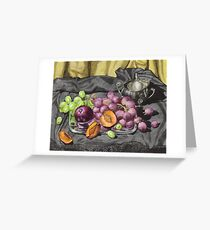 Let's get oldschool.. with grapes. Greeting Card