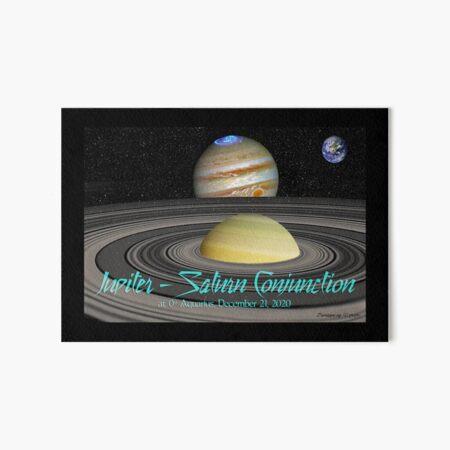Jupiter - Saturn Conjunction Art Board Print
