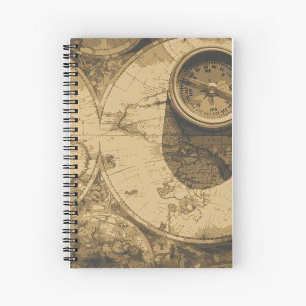 Vintage analog clock Spiral Notebook
