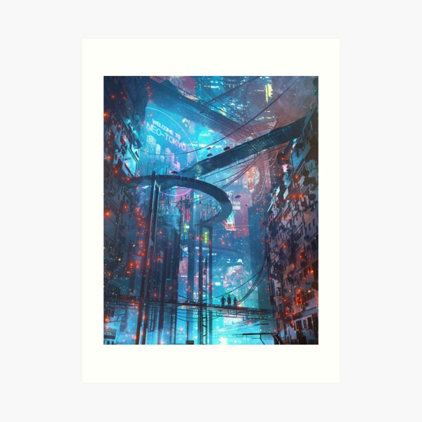 Suburban Nights, by Dangiuz Art Print