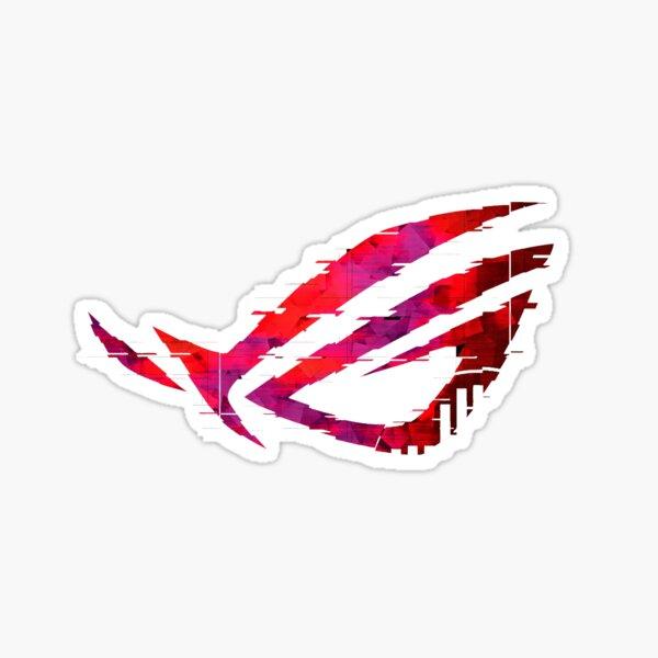 Asus Rog Strix - Black and Red Design Sticker