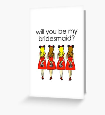 Cute Bridesmaids Proposal Greeting Card