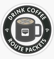 Drink Coffee, Route Packets Sticker