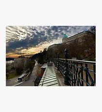 Dawn over Buda Castle, Budapest Photographic Print