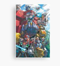 Megaman X Transformers Canvas Print