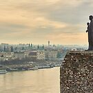 Statue of Virgin Mary above Budapest by Fernando Machado
