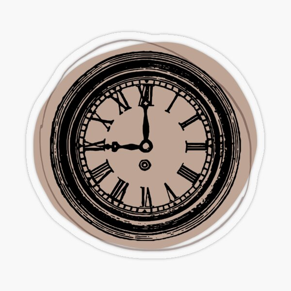 vintage clock  Transparent Sticker