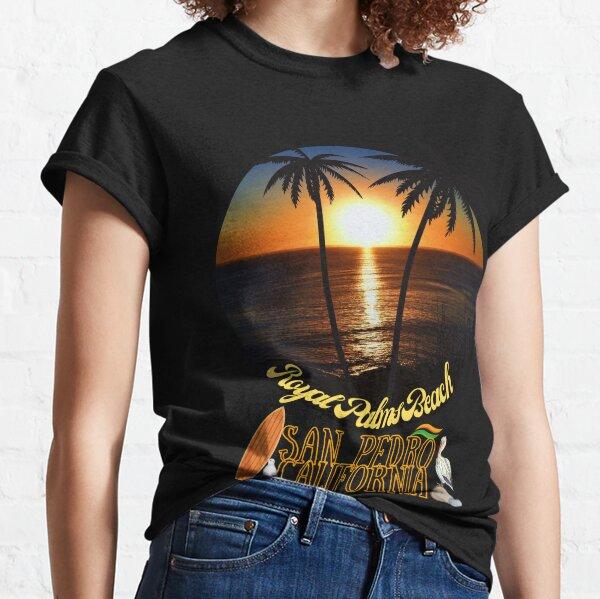 San Pedro California Sunset Royal Palms Beach Black Merch Classic T-Shirt