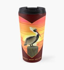 LOVE: Brown Pelican Travel Mug
