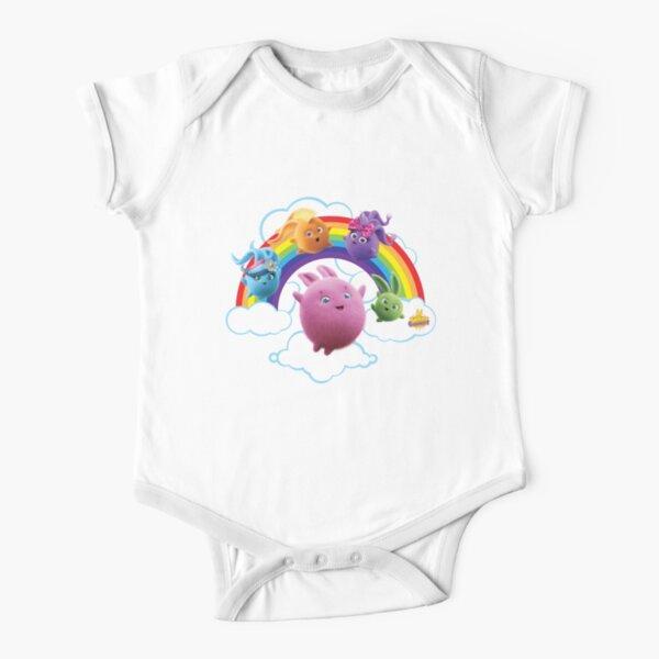 Sunny Bunnies - Rainbow Bunnies Short Sleeve Baby One-Piece