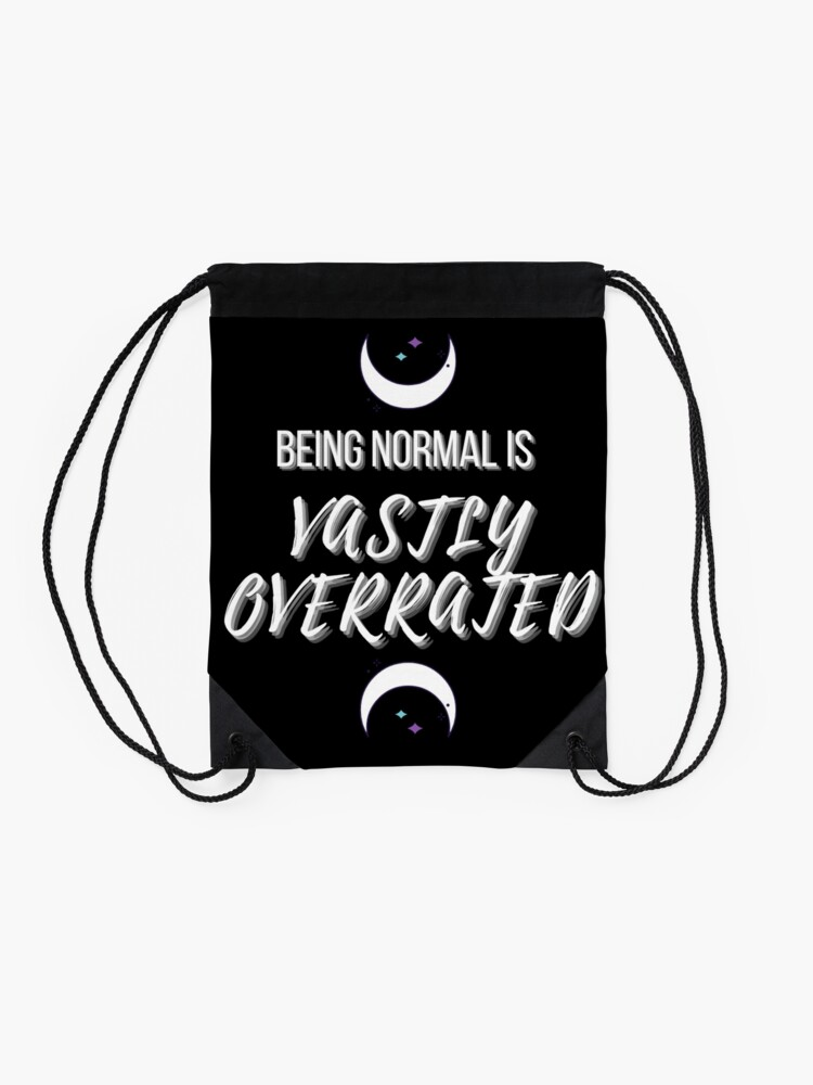 Alternate view of Vastly Overrated  Drawstring Bag