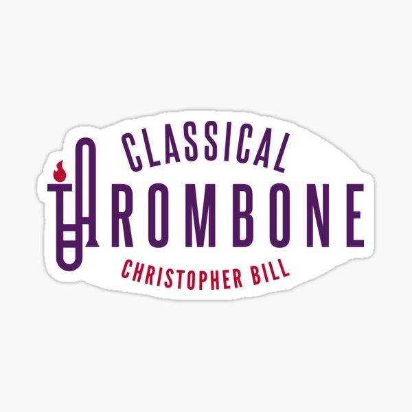 Classical Trombone Full Color Logo Sticker