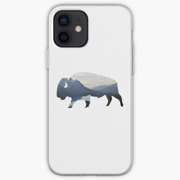 Mountains in the Bison iPhone Soft Case