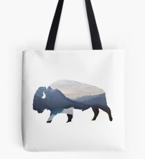 Mountains in the Bison Tote Bag