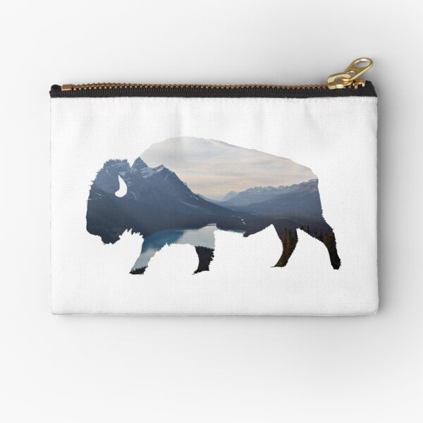 Mountains in the Bison Zipper Pouch