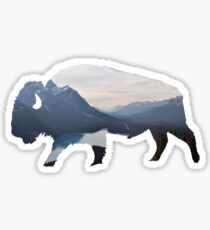 Mountains in the Bison Sticker