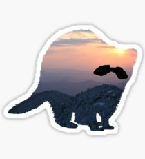 Mountains in the Raccoon Sticker