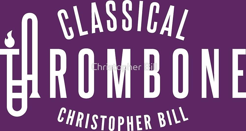 Classical Trombone Full White Logo by Christopher Bill