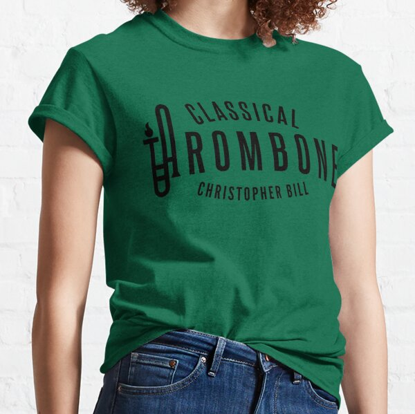 Classical Trombone Full Black Logo Classic T-Shirt