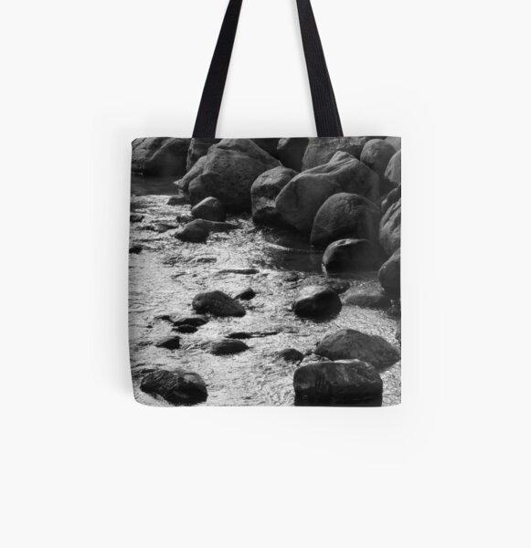 Rocky Stream All Over Print Tote Bag