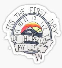 First Day Clock Sticker